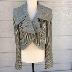 Nordstrom Hinge • Short Crossover Button Jacket